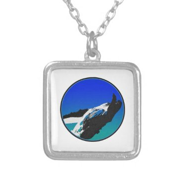 Beach Themed Whale Silver Plated Necklace