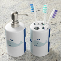 Whale Soap Dispenser And Toothbrush Holder