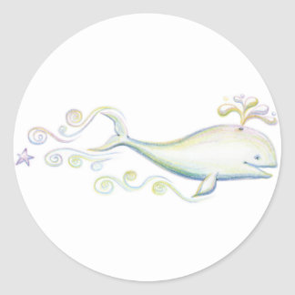 Whale Song Classic Round Sticker