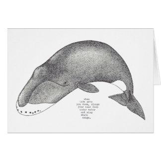 whale songs card