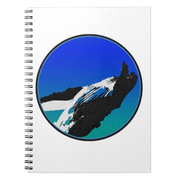 Beach Themed Whale Spiral Notebook