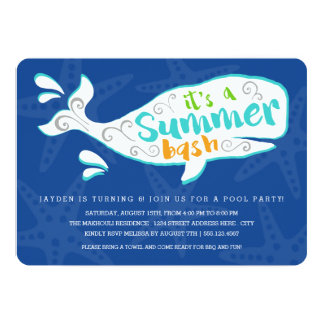 Whale Splash | Birthday Party Invitation