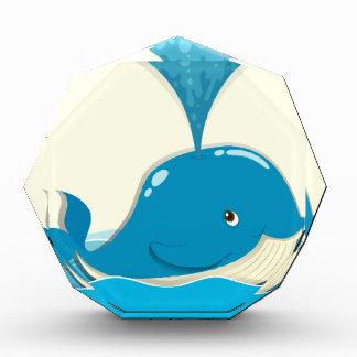 Whale splashing water out acrylic award