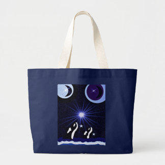 Whale Star Moon recycle bag