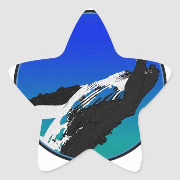 Beach Themed Whale Star Sticker