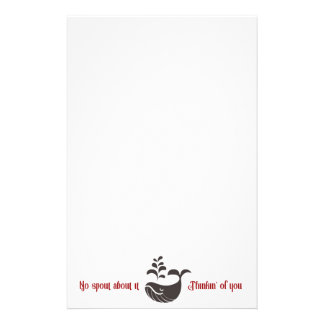 Whale Stationery/No Spout About It Stationery