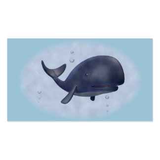 Whale Swimming Business Card