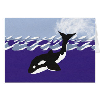 Whale Swimming in the Ocean Card