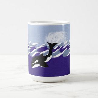 Whale Swimming in the Ocean Coffee Mug