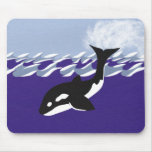 Whale Swimming in the Ocean Mousepad