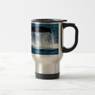 Whale Tail 15 Oz Stainless Steel Travel Mug