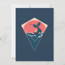 Whale tail and boat thank you card