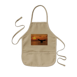 Whale Tail at Sunset Kids' Apron