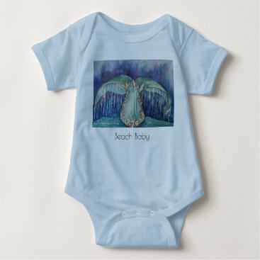 Beach Themed whale tail beach baby t-shirt