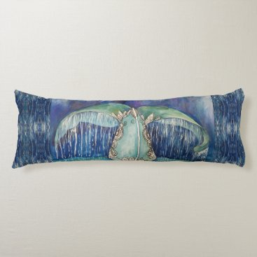 Whale tail body pillow
