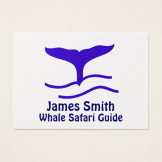 Whale Tail Business Card Template
