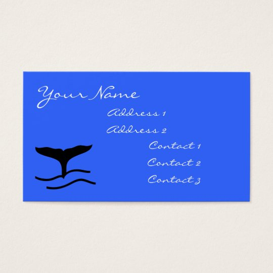 Whale Tail Business Cards