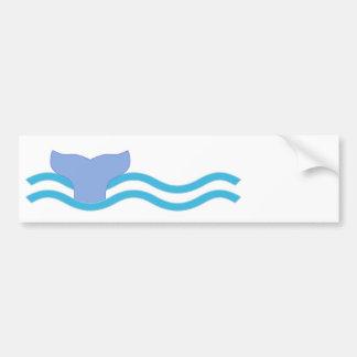 Whale Tail Car Bumper Sticker
