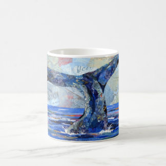 Whale Tail collage mug