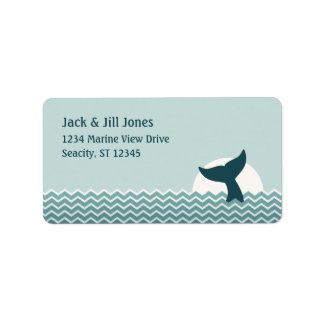 Whale Tail Custom Address Labels