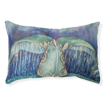 Beach Themed whale tail dog bed