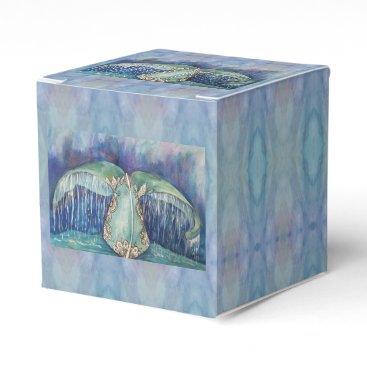 Beach Themed whale tail favor box