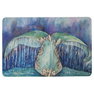 Beach Themed whale tail floor mat