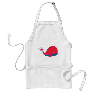 whale tail kids cruise design adult apron