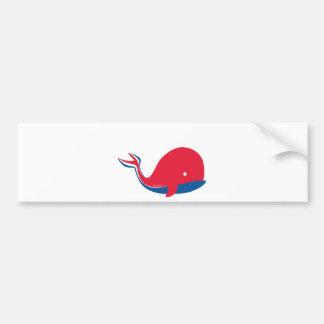 whale tail kids cruise design car bumper sticker