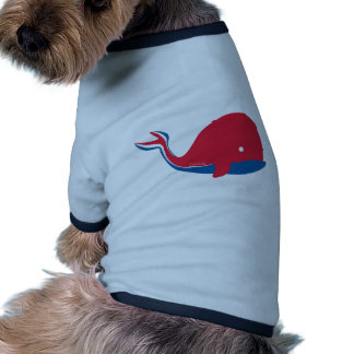 whale tail kids cruise design doggie t-shirt