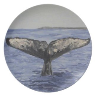 Whale Tail Melamine Plate