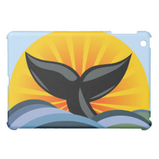 Whale Tail Ocean Waves Design Cover For The iPad Mini