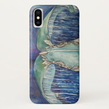 Beach Themed Whale tail phone case