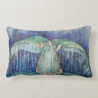Whale tail pillow