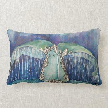 Beach Themed Whale tail pillow