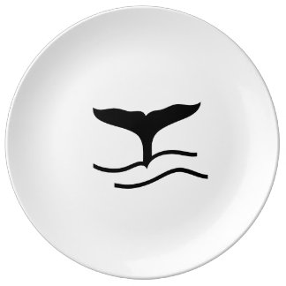Whale Tail Porcelain Plate