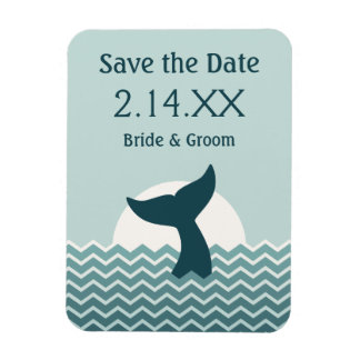 Whale Tail Save the Date Magnet