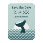 Whale Tail Save the Date Rectangle Magnets