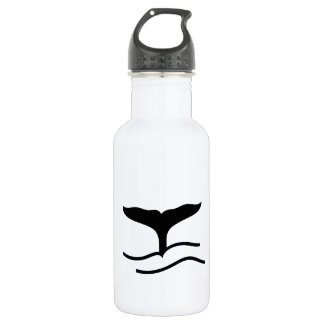 Whale Tail Stainless Steel Water Bottle