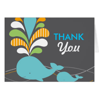 Whale thank you card
