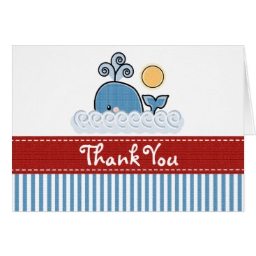 Beach Themed Whale Thank You Cards Notes