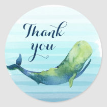 Whale Thank You Sticker