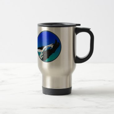Beach Themed Whale Travel Mug