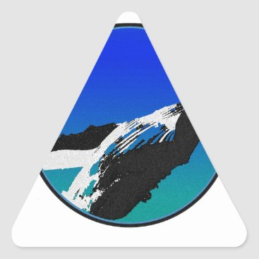 Beach Themed Whale Triangle Sticker
