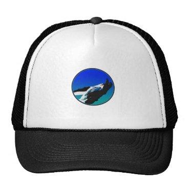 Beach Themed Whale Trucker Hat
