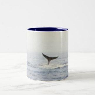 whale Two-Tone coffee mug