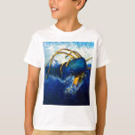 Whale Vs Colossal Squid Seascape Painting T-Shirt