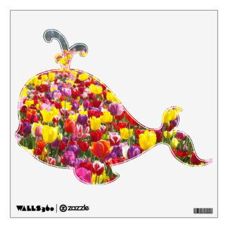 Whale wall decals Spring Tulip Flowers Pretty