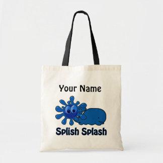 Whale Watch Kids Funny Custom Tote Bag  1