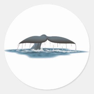 Whale Watcher Classic Round Sticker